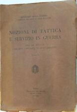 NOZIONI DI TATTICA E SERVIZIO IN GUERRA 1930