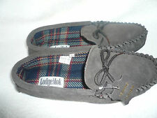MENS MOCCASIN SLIPPERS SIZE 12UK 46EU DARK BROWN REAL SUEDE BY COOLERS