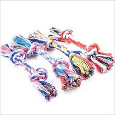 1Pc Puppy Dog Pet Cotton Braided Bone Soft Chew Double Knot Rope Play Toy Random