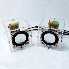 Mini Music Sound Amplifier Electronic DIY Kit Clear Transparent Speaker Box 2S94