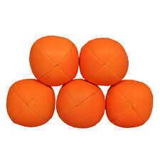 5 x UV Smoothie Juggling Ball - Glow Beanbags - Pro UV Juggling Set - Orange