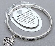 MOTHER Stretch Bracelet with Mother's Prayer Heart Charm-Message card included