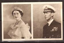 GB, ROYALTY, 1939  KING GEORGE V1 & QUEEN ELIZABETH, POSTCARD AUTO PEN MESSAGE