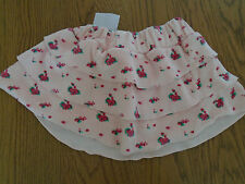 BNWT baby girl towelling material flowered rara skirt with layers. 9 months