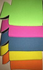 100 NEON COLORS Blank FOLDABLE Can Koozies Beer Cooler Foam Wedding/Party