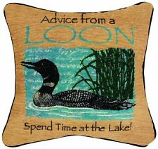 Manual Advice From a Loon Pillow, 12-1/2-Inch Square, New, Free Shipping