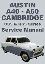 AUSTIN A40 & A50 CAMBRIDGE WORKSHOP MANUAL: 1954-1957