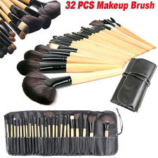 32 Pcs Professional Make Up Brush Set Brown Foundation Brush Kabuki Makeup Bobbi