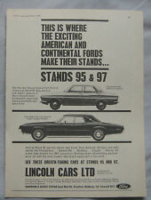 1966 Lincoln Taunus & Thunderbird Original advert No.1