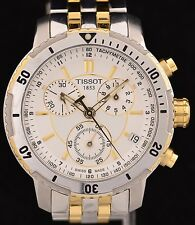 Excellent Stainless Steel Tissot & Gold Toned Chronograph Watch Ref: T067417A
