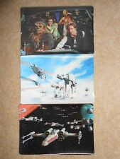 STAR WARS TRILOGY Cereal 3D Lenticular Cards - KELLOGGS Promo 1997 X-Wing AT-AT