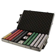 New 1000 Scroll 10g Ceramic Poker Chips Set with Rolling Case - Pick Chips!