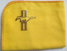 FORD MUSTANG:NEW LARGE HI-QUALITY YELLOW CLEANING DUSTER CLOTH WITH DECAL LOGO