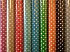 Vinyl PVC Tablecloth * Easy Wipe Clean POLKA DOT Spot Patio Oilcloth 140cm Wide