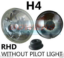 "7"" CRYSTAL LENS CLASSIC CAR HEADLAMP HEADLIGHT HALOGEN H4 CONVERSION *NON PILOT*"