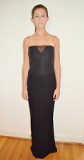 Couture Designer Vera Wang Black Strapless Formal Gown Dress  Size 6 White Label