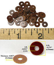 "48pc 1960s Champion 1/24 Slot Car 36D PHENOLIC MOTOR SPACER WASHERS .093"" I.D."