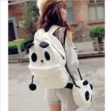 Fashion Girls Panda Canvas Rucksack Backpack Satchel Shoulder Bags Schoolbag ONE