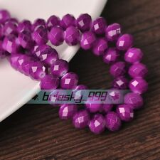 New Colors Rondelle Faceted Crystal Glass Loose Spacer Beads 4mm/6mm/8mm/10mm