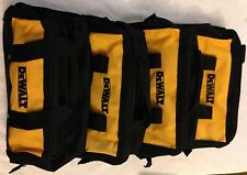 "4 New Dewalt Heavy Duty Ballistic Nylon 13"" Tool Bags w/ Solid Runners on Bottom"