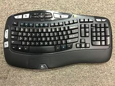Logitech K350 Wireless Wave Ergonomic Keyboard  NO RECEIVER