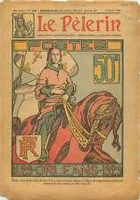 Timbre la Poste Jeanne d'Arc à Cheval PTT France 1929 ILLUSTRATION