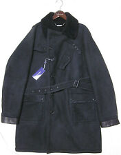 $5995 polo ralph lauren purple label leather shearling jacket fur coat Italy  XL