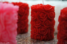 Rose Pillar Candle Used 100% Pure Wax, For Home Decoration in Christmas / Gift.