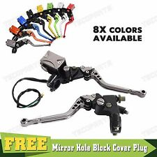 Motorcycle Adjustable CNC Clutch Brake Master Cylinder Reservoir Levers Titanium