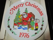 "Dennis The Menace , 1976 Christmas Plate , by Hank Ketchum , 9 1/4"" Diameter"