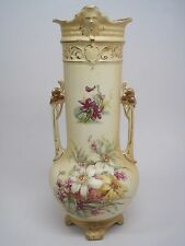 Antique Vintage RH Royal Wettina Hand Painted Handled Vase Urn Austria 11.5""