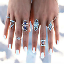 Retro 8Pcs/Set Boho Stack Plain Above Knuckle Ring Midi Finger Tip Rings Jewelry