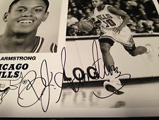 BJ ARMSTRONG AUTOGRAPHED 8X10 PHOTO - CHICAGO BULLS