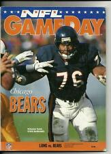 1993 NFL Gameday Program Bears @ Lions Novermber 25th Thanksgiving Day game 54th
