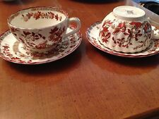 Spode Indian Tree Tea cups and saucers (2)