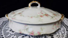 "Haviland Limoges Round Covered Vegetable Bowl "" Marie "" - Antique 1904 - 1920's"