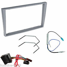 VAUXHALL VIVARO 2004 ONWARDS SILVER DOUBLE DIN FASCIA FACIA FITTING PACKAGE KIT