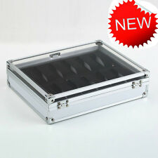 NEW 12 Grid Slots  Jeweler Watches Display Storage Box Cases Aluminium  Squar F#