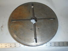 "MACHINIST LATHE MILL Machinist 11"" T Slot Face Plate for Lathe"