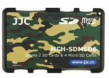 Ultra Slim Memory Card Holder Hard Case for 2 x SD + 4 x Micro SD -Camouflage