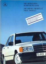 Mercedes-Benz W201 190D, 190D 2.5 + Turbo 1987 German market sales brochure