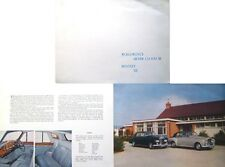 Rolls-Royce Silver Cloud III & Bentley S3 Original Sales Brochure TSD 2104 1962