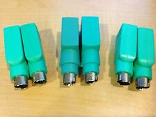 LOT OF 6 Mouse or Keyboard USB Female to PS2 Male Adapters Free Shipping