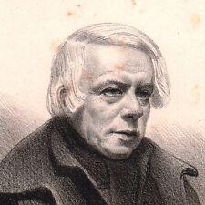 Portrait XIXe Jacques Charles Odry Théâtre Acteur Vaudeville Versailles
