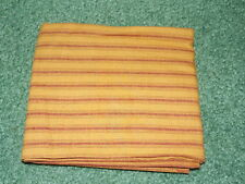 1/2 YD Quilt Sewing Fabric Dark Beige  Homespun Striped Country Style