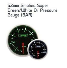 ProSport 52mm Super Ahumado Verde/Blanco Manómetro De Aceite Bar