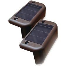 MAXSA 47332 Solar-Powered LED Deck Light, 4 pk, Improves deck safety