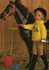 KNITTING PATTERN TO MAKE VINTAGE SINDY BARBIE DOLLS CLOTHES HORSE RIDING