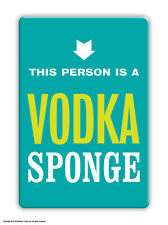 Brainbox Candy funny novelty 'Vodka Sponge' fridge magnet cheap gift present