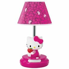 HELLO KITTY KIDS CHILD CHILDREN GIRLS TABLE LAMP MAGENTA NEW